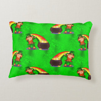 Dabbing Leprechaun Decorative Pillow
