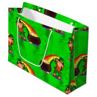 Dabbing Leprechaun Large Gift Bag