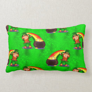 Dabbing Leprechaun Lumbar Pillow