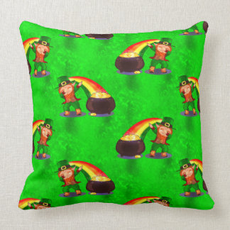 Dabbing Leprechaun Throw Pillow