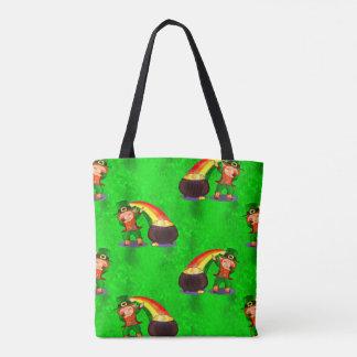 Dabbing Leprechaun Tote Bag