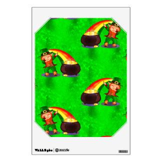 Dabbing Leprechaun Wall Sticker