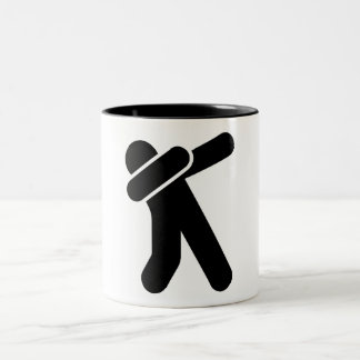 Dabbing person icon mug
