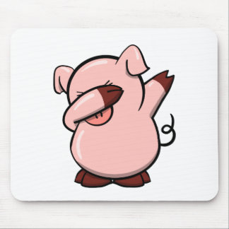 Dabbing Pig Mouse Pad