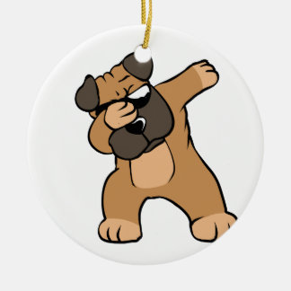 Dabbing Pug Funny Ceramic Ornament