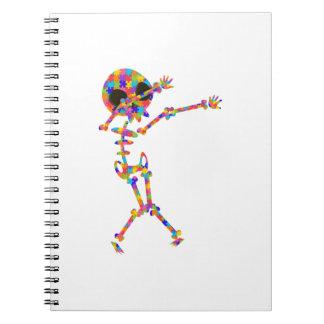 Dabbing Skeleton For Autism Notebooks
