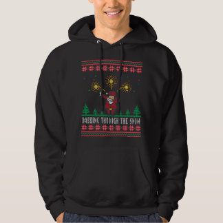 Dabbing Through The Snow Santa Claus Ugly Sweater