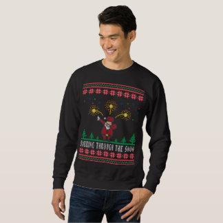 Dabbing Through The Snow Santa Claus Ugly Sweater