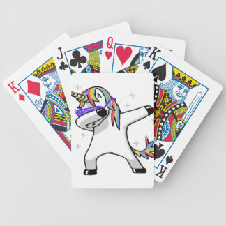 Dabbing Unicorn Bicycle Playing Cards
