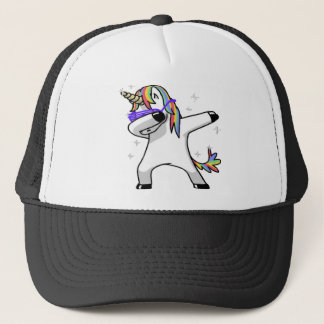 Dabbing Unicorn Trucker Hat