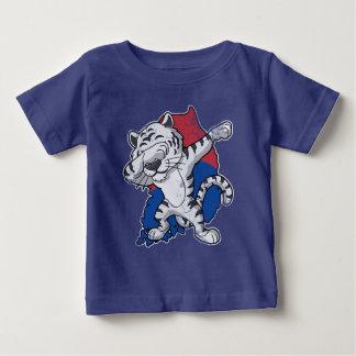 Dabbing White Tiger South Korea Flag Map Baby T-Shirt