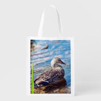 Dabbling Ripples Reusable Grocery Bag