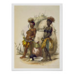 Dabiyaki and Upapazi, Zulu Boys in Dancing Dress, Poster