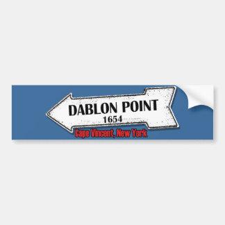 Dablon Point Sticker Bumper Sticker