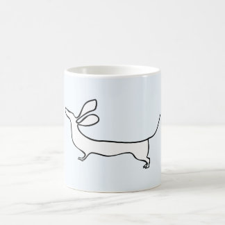 Dachs one-line illustration mug