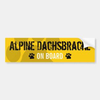 Dachsbracke alpin à bord autocollant de voiture
