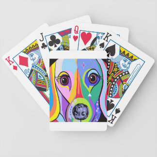 Dachshund 2 bicycle playing cards