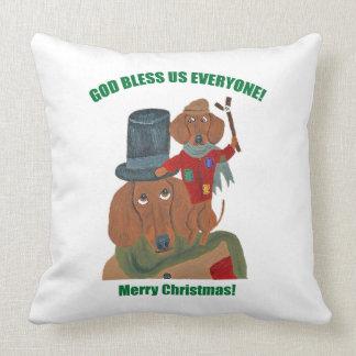 "Dachshund ""A Christmas Carol"" Tiny Tim Pillow"