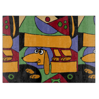 Dachshund Abstract original Art Cutting Board