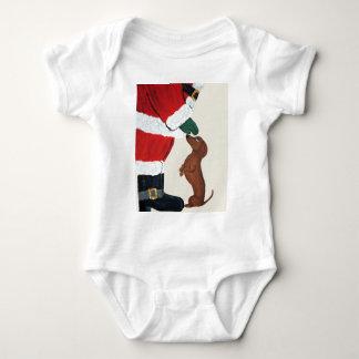 Dachshund And Santa Tee Shirt