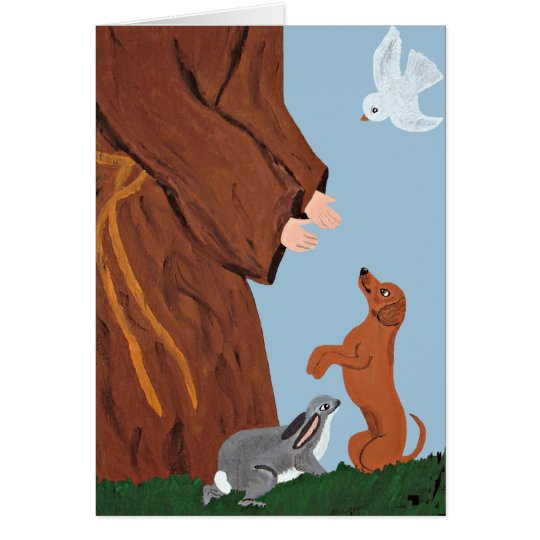 Dachshund And St. Francis Card