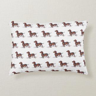 Dachshund Art Pillow by Barbara Rush