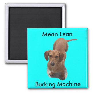 Dachshund Barking Machine Magnet