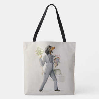 Dachshund Bell Boy Tote Bag