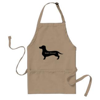 Dachshund best friend silhouette apron