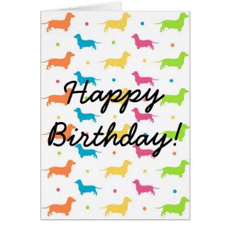 Dachshund Birthday Card - The Funky Sausage Range
