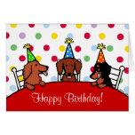 Dachshund Birthday Cartoon