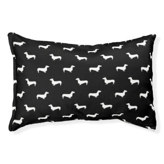 Dachshund black and white dog bed