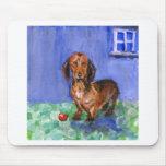 Dachshund blue room portrait mousepad
