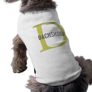 Dachshund Breed Monogram Design Dog Shirt