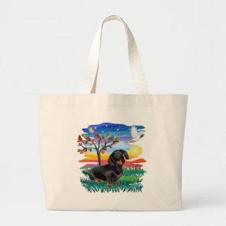 Dachshund (BT) - Sun Glow Large Tote Bag