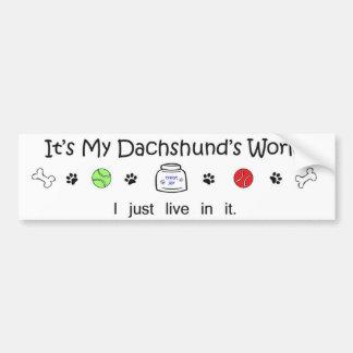 dachshund bumper sticker