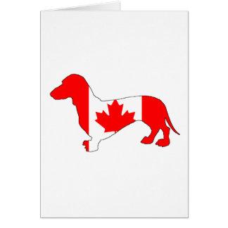 Dachshund Canada Card