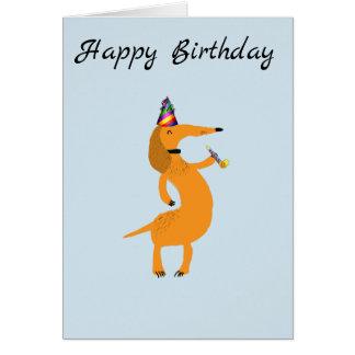 Dachshund Card Birthday Card Wiener Dog Card