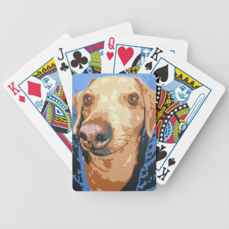 DACHSHUND CHARLIE BICYCLE PLAYING CARDS