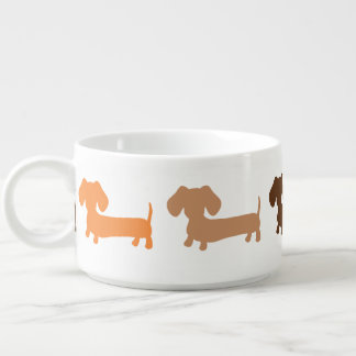 Dachshund Chili Soup Bowl Earth Tone Colors