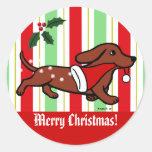 Dachshund Christmas Cartoon Snowflakes
