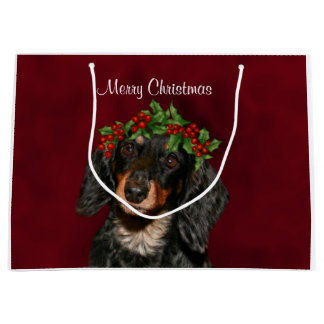 Dachshund Christmas Large Gift Bag