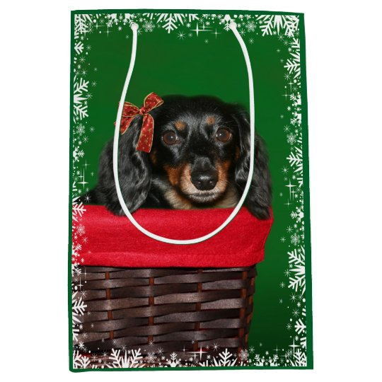 Dachshund Christmas Medium Gift Bag