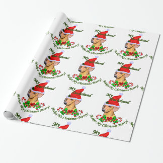 Dachshund Christmas Merry Wrapping Paper