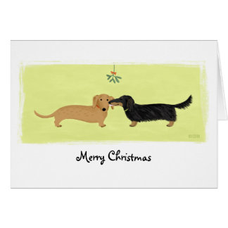 Dachshund Christmas Note Card