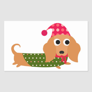 Dachshund Christmas Stickers