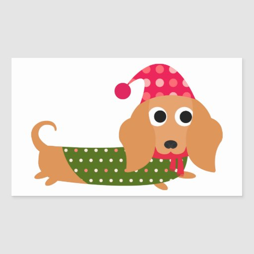 Dachshund Christmas Stickers