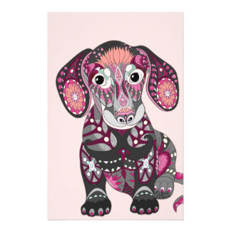Dachshund Colors Stationery