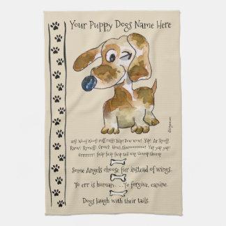Dachshund Crossbreed Cartoon Dog Quotes Kitchen Kitchen Towel