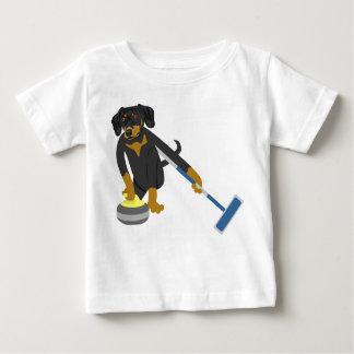 Dachshund Curling Baby T-Shirt